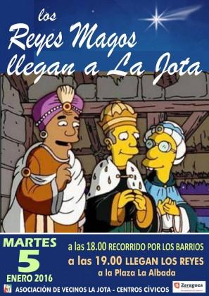 Cartel de los Reyes Magos en La Jota.