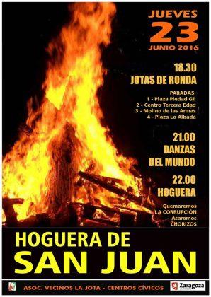 Programa hogueras de San Juan barrio La Jota