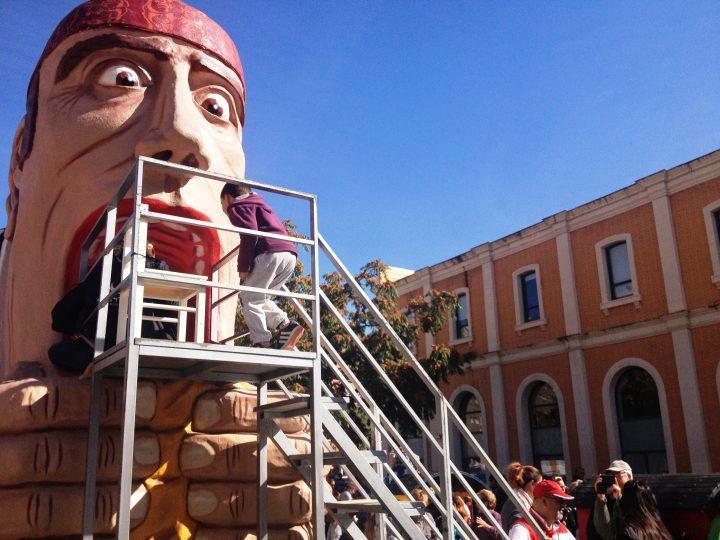 El popular Tragachicos, este lunes junto a la Estación del Norte en el Arrabal