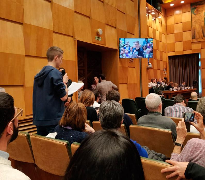 Intervención en el Pleno: Emergencia Climática
