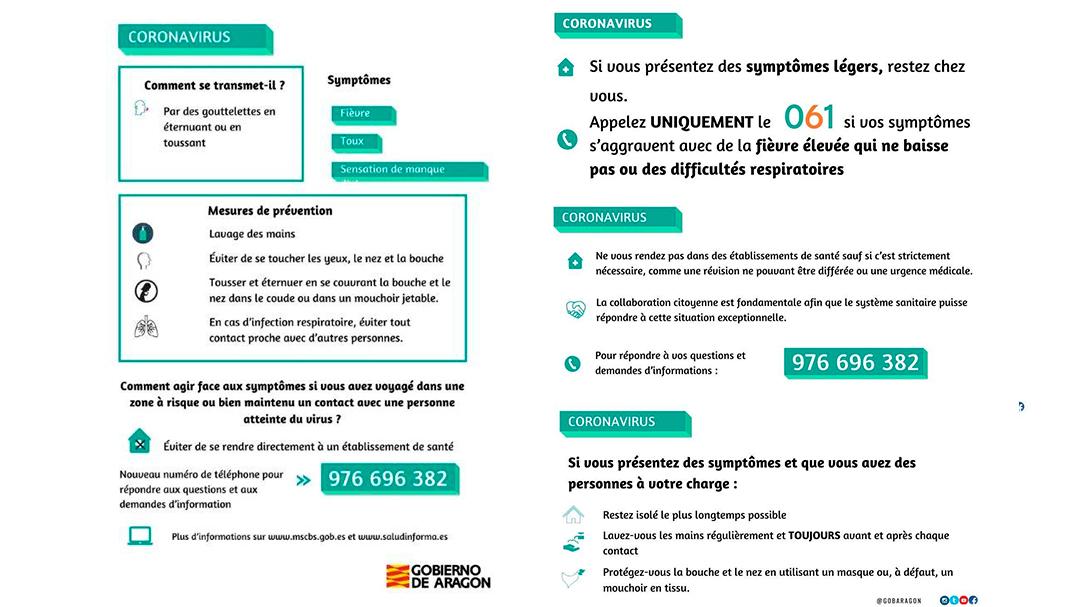 Coronavirus Instrucciones en francés