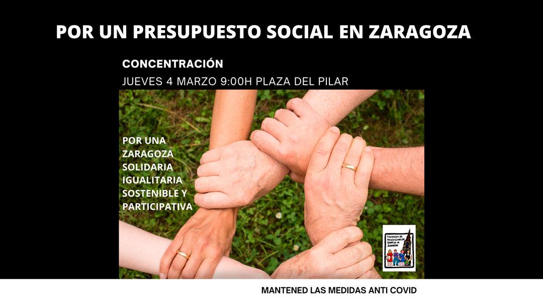 resupuestos más sociales para Zaragoza